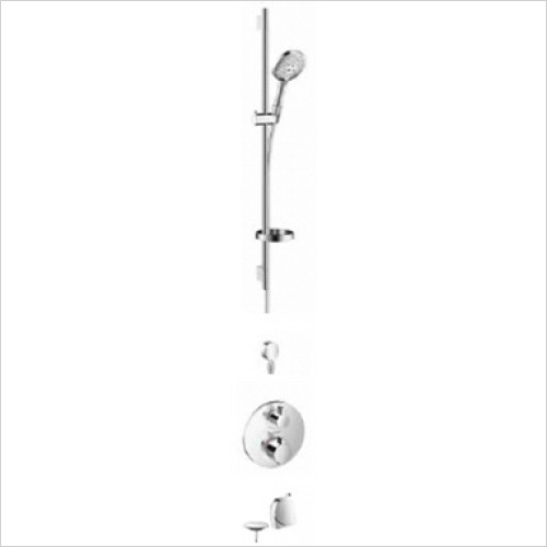 Hansgrohe - Bathrooms - Round Valve with Raindance Select Rail Kit & Exafill