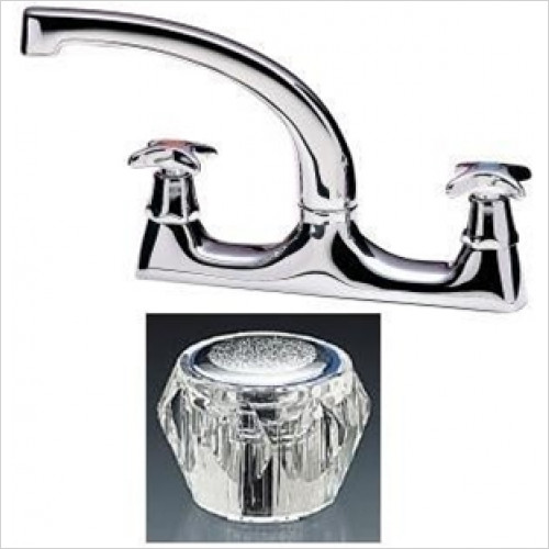 Tremercati - Capri Dual Flow Deck Sink Mixer With 7'' Spout