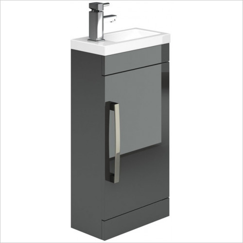 essentials - Nevada 400mm Cloakroom Unit Plus, 400mm Clakroom Basin
