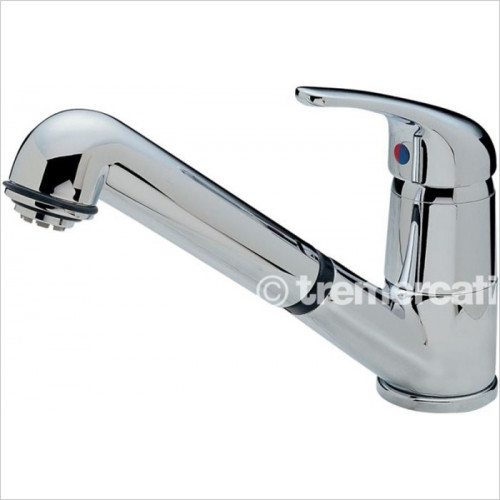Tremercati - Modena Standard Dual Flow Sink Mixer With Retractable Spout