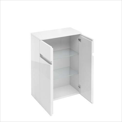 Britton Aqua Cabinets - 2 Door Base Unit 60 x 82 x 30cm