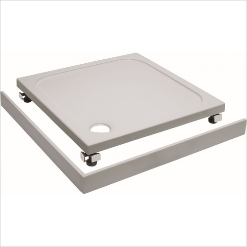 Crosswater essentials - Square Shower Tray 800 45mm