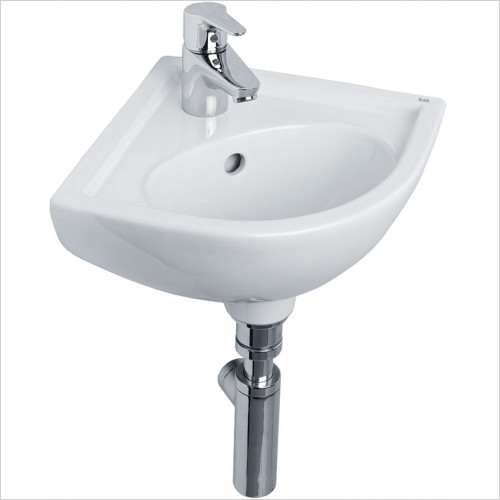 essentials - Lily Corner Basin 440mm 1TH