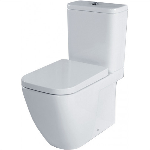 essentials - Fuchsia Close Coupled WC Pack With Seat