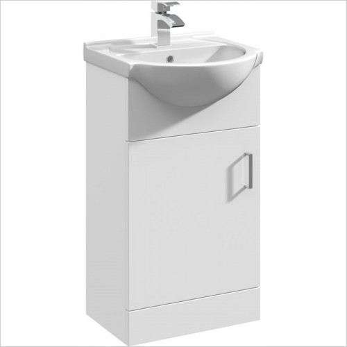 essentials - Alaska 450mm Vanity Basin Unit With 1 Door