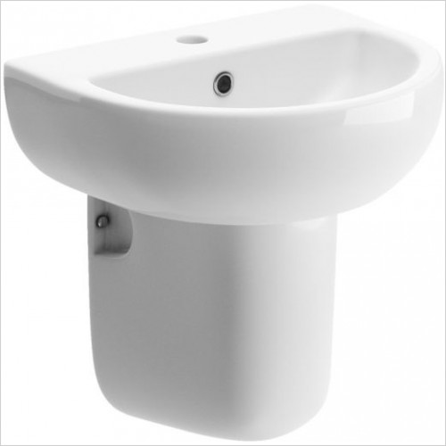 Moods - Tuscany 450mm 1TH Basin & Semi Pedestal