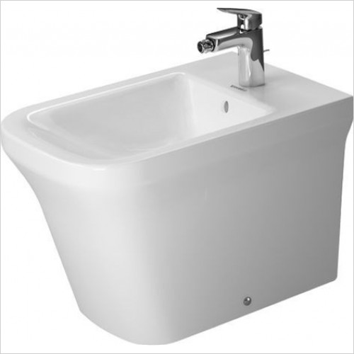 Duravit - Bathrooms - P3 Comforts Bidet Floorstanding 600mm 1TH Back To Wall