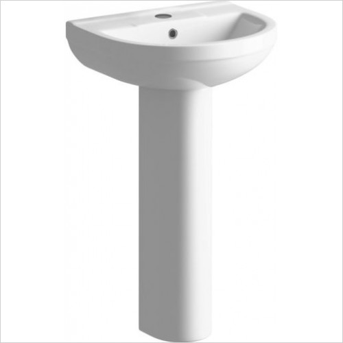 Moods - Laurus2 500mm Basin 1TH And Full Pedestal