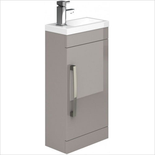 essentials - Nevada 400mm Cloakroom Basin Unit With 1 Door