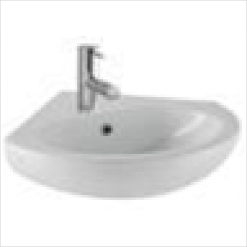 Eastbrook - Lisbon II 550 x 550mm Corner Basin 1TH