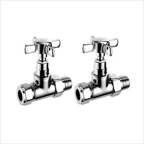 Pegler - Bathroom - Terrier Crosstop Trad. Straight Radiator Valve 15mm x 1/2''