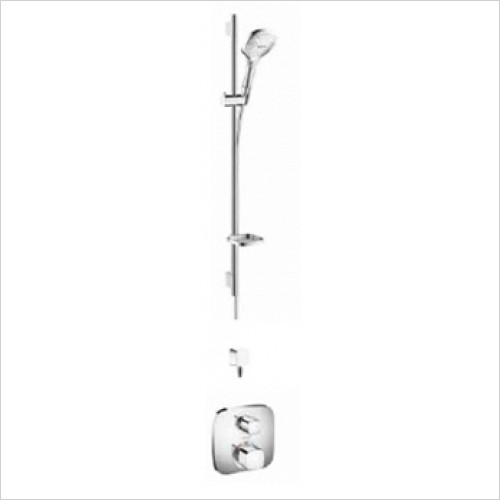 Hansgrohe - Bathrooms - Soft Cube Valve with Raindance Select Rail Kit