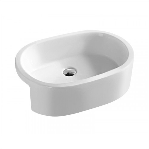 Hudson reed - Oval Semi Recess Basin W560xD400xH185