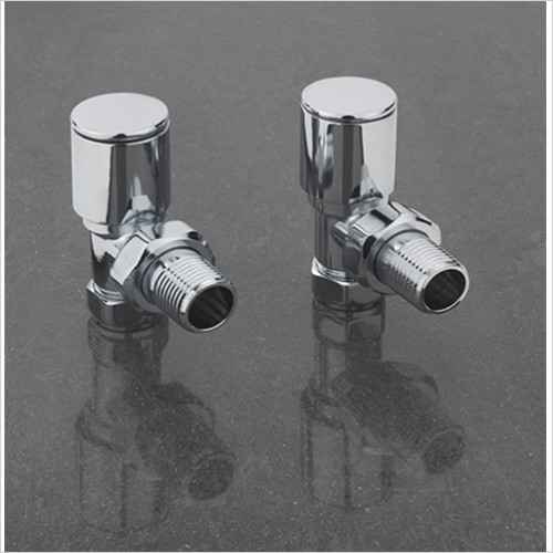 sagittarius - Pair Of Modern Angled Radiator Valves