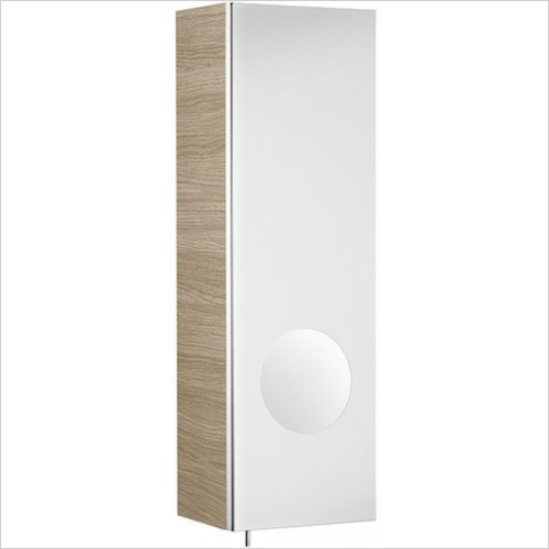 Roca - Luna 200mm Mirror Cabinet RH, Integrated Magnifying Mirror