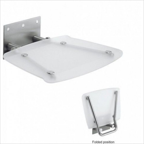 Simpsons - Square Wall Mounted Shower Seat