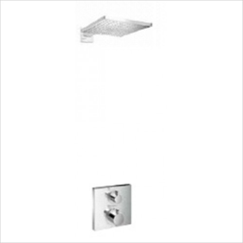 Hansgrohe - Bathrooms - Square Valve with Raindance Overhead