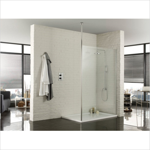 Aquadart - Wetroom Floor To Ceiling Post 2600mm
