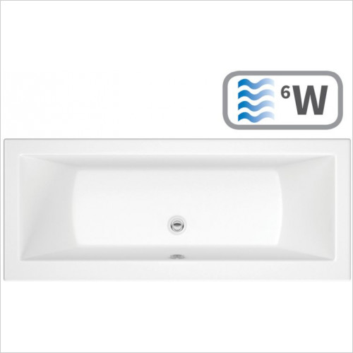 Moods - Solarna Supercast Double End 1700 x 750mm 0TH Bath
