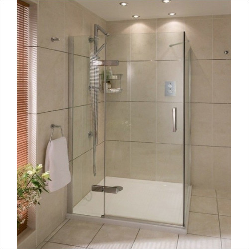 Aqata - Spectra LH Hinged Door In Line RHSS 800x800mm