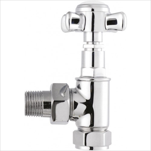Bayswater - Victorian Angled Crosshead Radiator Valves (Pair)