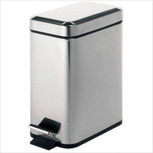 Bathroom Origins - Gedy Pedal Bin Rectangular