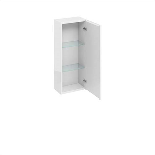 Britton Aqua Cabinets - 1 Door Wall Unit 30 x 75 x 15cm
