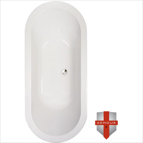 Abacus - Series 1 Armour Plus Oval Inset Bath 1800 x 800mm