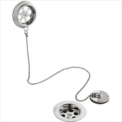 Hudson reed - Retainer Bath Waste & Overflow With Brass Plug & Ball Chain