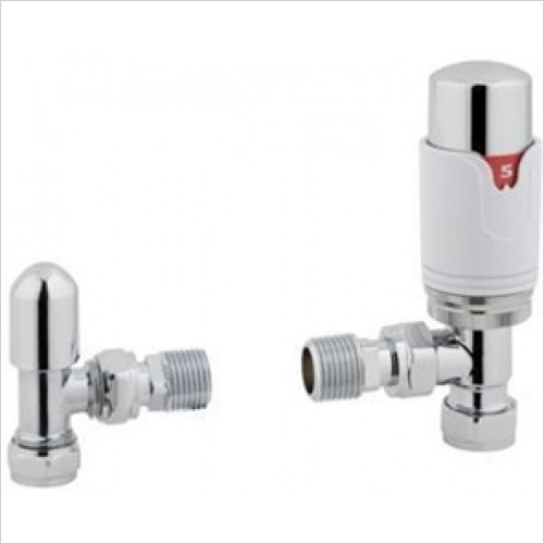 Eastbrook - Angle TRV & Lockshield Valve 15mm