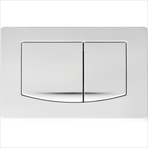Scudo Bathrooms - Slimline ABS Push Button Plate Square Style