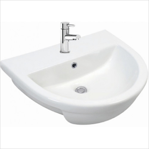 Scudo Bathrooms - Spa Semi-Recessed Basin 1TH