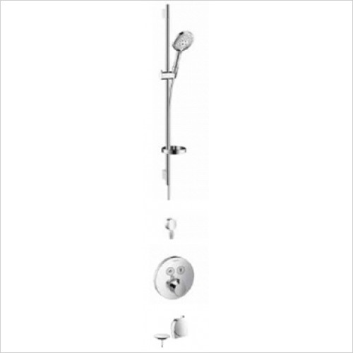 Hansgrohe - Bathrooms - Round Select Valve with Raindance Select Rail Kit & Exafill