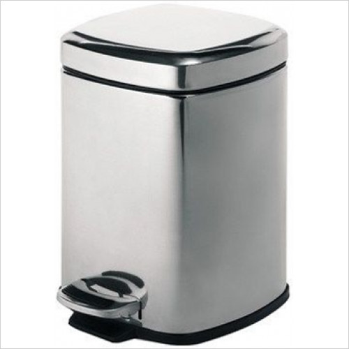 Bathroom Origins - Gedy Pedal Bin Square 5 Litre