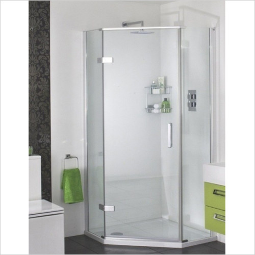 Aqata - Spectra Quintet 1200x900mm LH Hinged Door