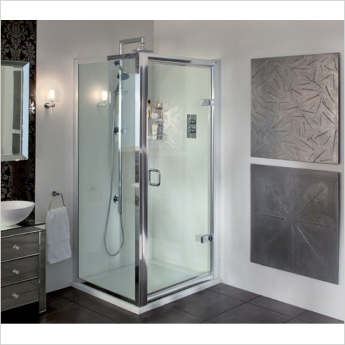 Aqata - ES Hinged Door, Corner Option 900x900mm LH