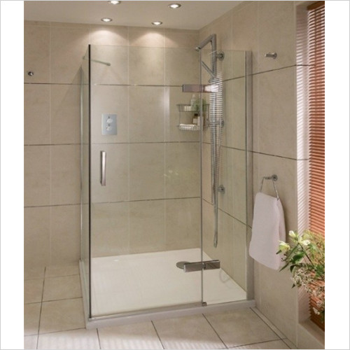 Aqata - Spectra RH Hinged Door In Line LHSS 800x800mm