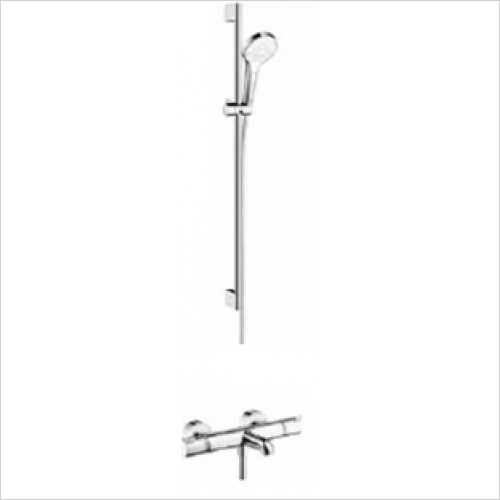 Hansgrohe - Bathrooms - Exposed Bath / Shower Valve with Croma Select Rail Kit