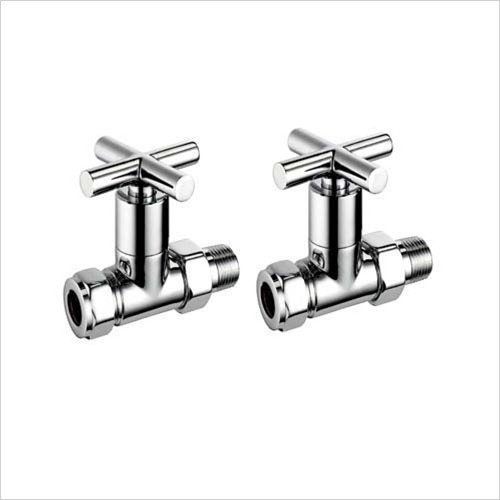 Pegler - Bathroom - Terrier Crosstop Modern Straight Radiator Valve 15mm x 1/2''