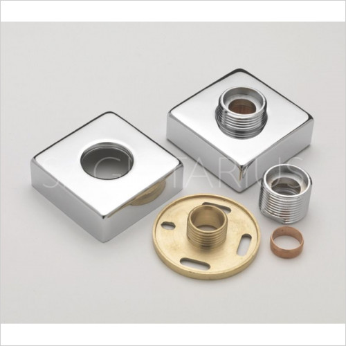 sagittarius - Pr Square Easy Fit Bar Valve Wall Plates