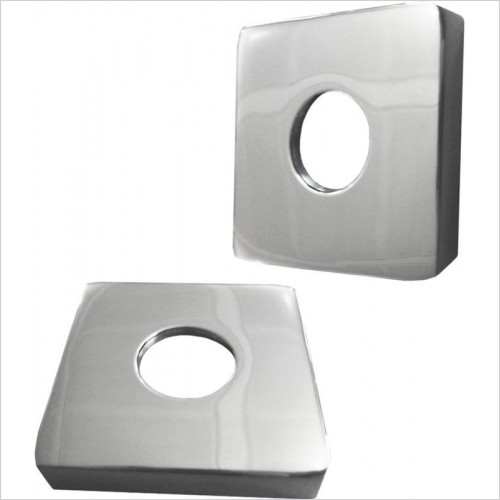 Vogue - Accessory 10 - Sq Cover Plates 15mm Internal Diameter