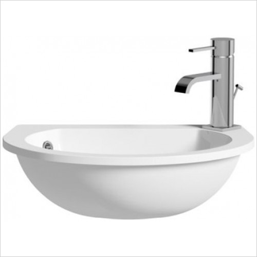 Moods - Space Cast Marble Semi Recessed Basin 490 x 152mm 1TH RH
