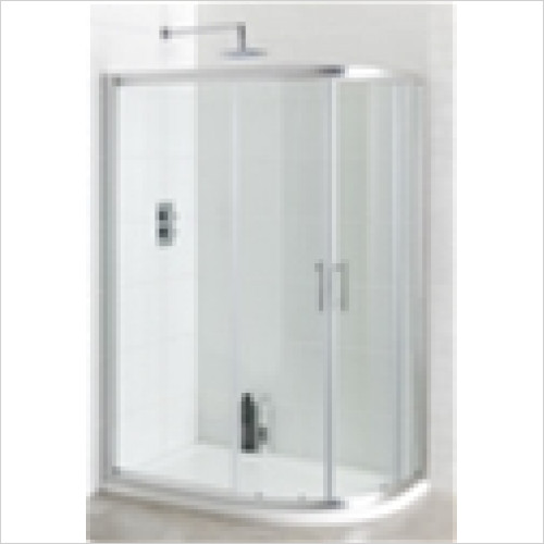 Eastbrook - Vantage Easy Clean Offset Quadrant Enclosure 900 x 800mm