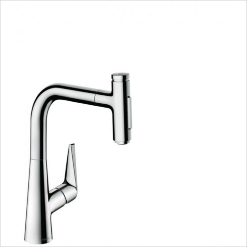 Hansgrohe - Bathrooms - M5117-H220 - H220 Single Lever Kitchen Mixer With P-O Spray