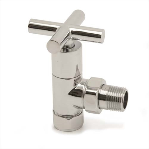 Pegler - Bathroom - Terrier Crosstop Modern Angle Radiator Valve 15mm x 1/2''