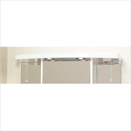 Eastbrook - 800mm Light Cabinet Cornice, 2 Spots