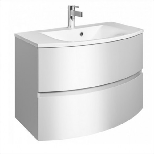 Bauhaus - Svelte Vanity Basin 800mm With Overflow 1TH