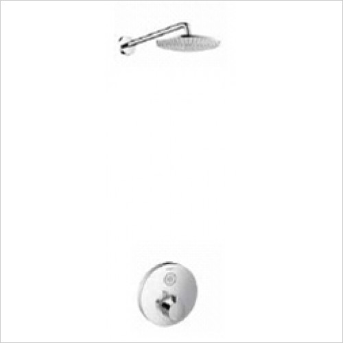 Hansgrohe - Bathrooms - Round Select Valve with Raindance Overhead