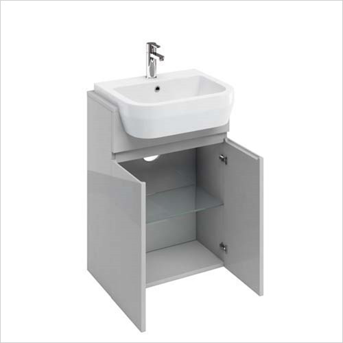 Britton Aqua Cabinets - 2 Door Semi Recessed Basin Unit 60 x 82 x 30mm