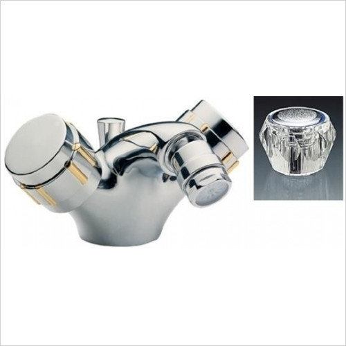 Tremercati - Capri Mono Bidet Mixer With Pop-Up Waste & Clear Heads
